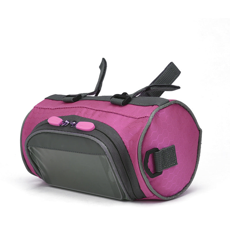 Touch screen mountain bike front bag