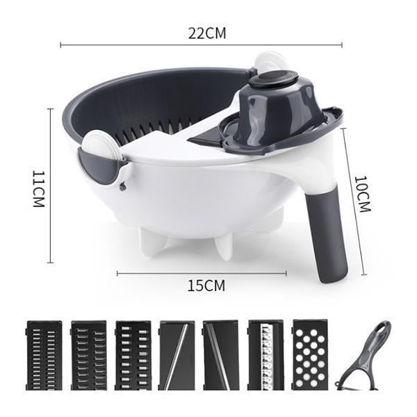 Multifunctional Rotate Vegetable Slicer With Drain Basket