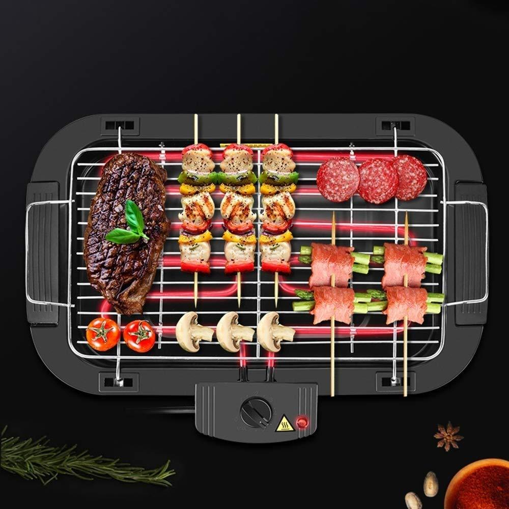 Non-Stick Fast BBQ Smokeless Grill-Indoor Electric Grill with Adjustable Temperature