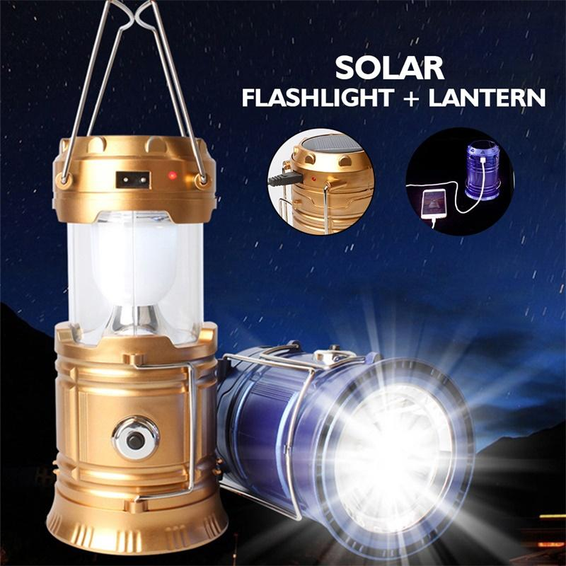 3-in-1 Camping Lantern- Portable Outdoor LED Flame Lantern Flashlight