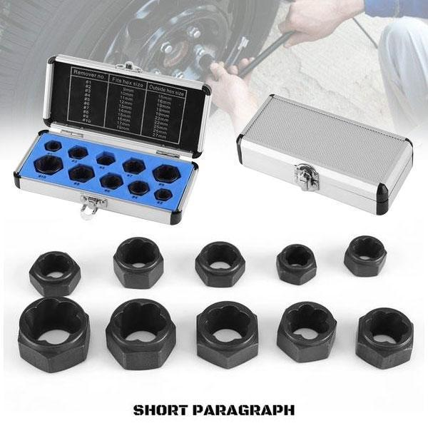 Perfect toolkit for removing stripped, rounded off and rusted bolts & nuts(10 PCS/SET)