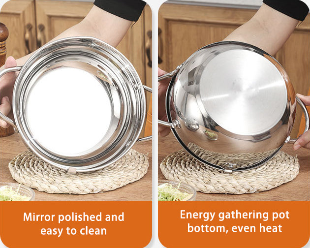 LIMITED QUANTITY 49% OFF-Stainless Steel Not-Stick Frying Pan