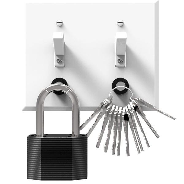 A Modern Magnetic Key Rack -  the sleek and simple key rack