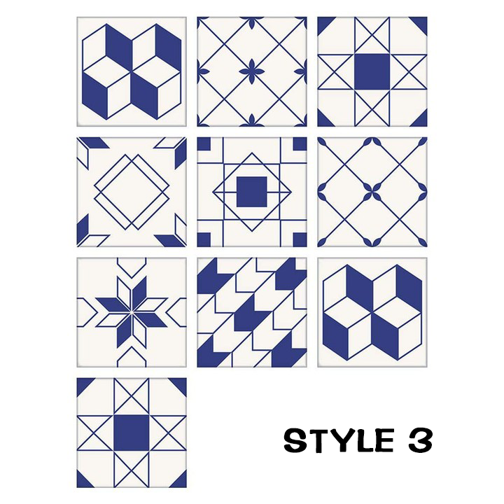 Moroccan style tile sticker(1 set of 10 pcs Tiles)