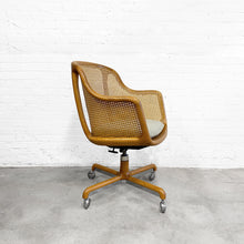 Load image into Gallery viewer, Ward Bennett Caned Swivel Chair for Brickel Circa 1960's
