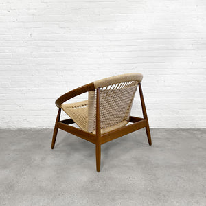 "Illum Wikkelso ""Ringstol"" Hoop Lounge Chair for Niels Eilersen, Denmark"