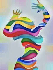 colorful art image of a woman in a dance pose