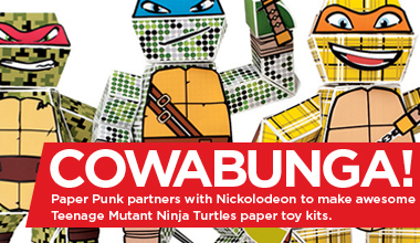Featured Blog Post:Nickelodeon invited us to make TMNT (Teenage Mutant Ninja Turtles) Paper Punk kits.