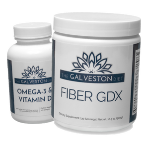 Fiber GDX and Omega 3 + Vitamin D Combo Pack