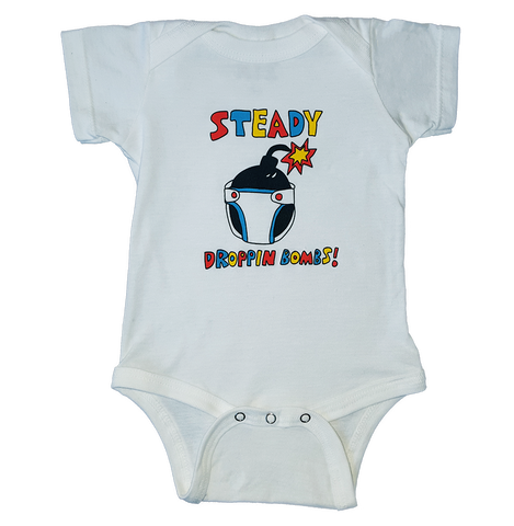 Steady Droppin Bombs Onesie
