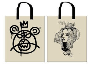 Check Yo Ponytail x Mishka Collaboration Tote by Actual Pain