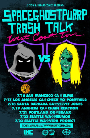 SpaceGhostPurrp & Trash Talk West Coast Tour Poster by Franki Chan