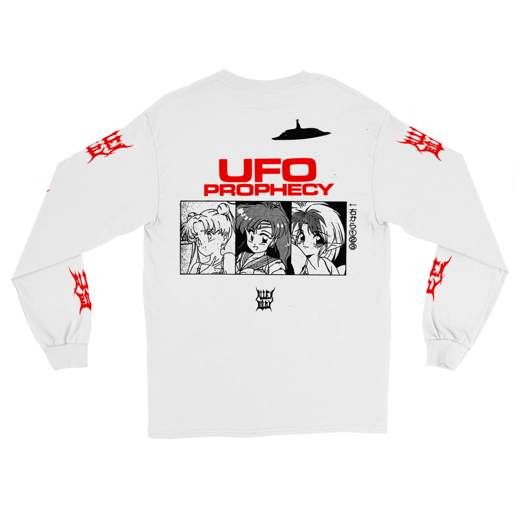 SATANIC UFO LONG-SLEEVE WHITE