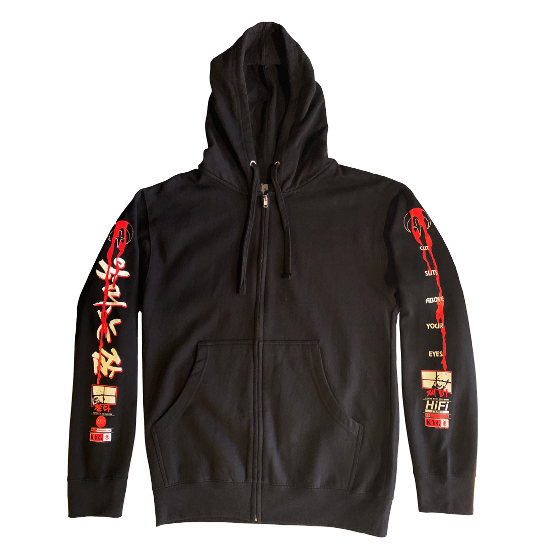 KILL YOUR GOD :: D3VLS SL33P ZIP UP HOODIE