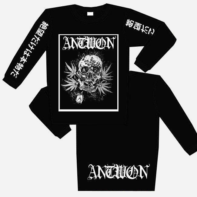 Weed Skull Long Sleeve Shirt