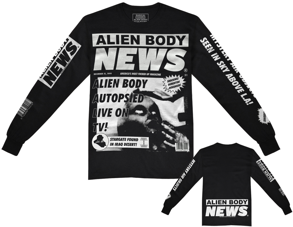 ALIEN BODY NEWS LONG SLEEVE