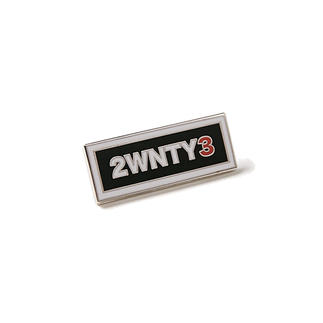 2WNTY3 BAR ENAMEL PIN