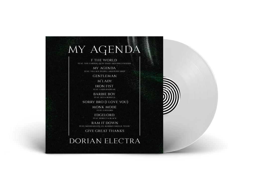 MY AGENDA T-SHIRT & VINYL BUNDLE (CLEAR)