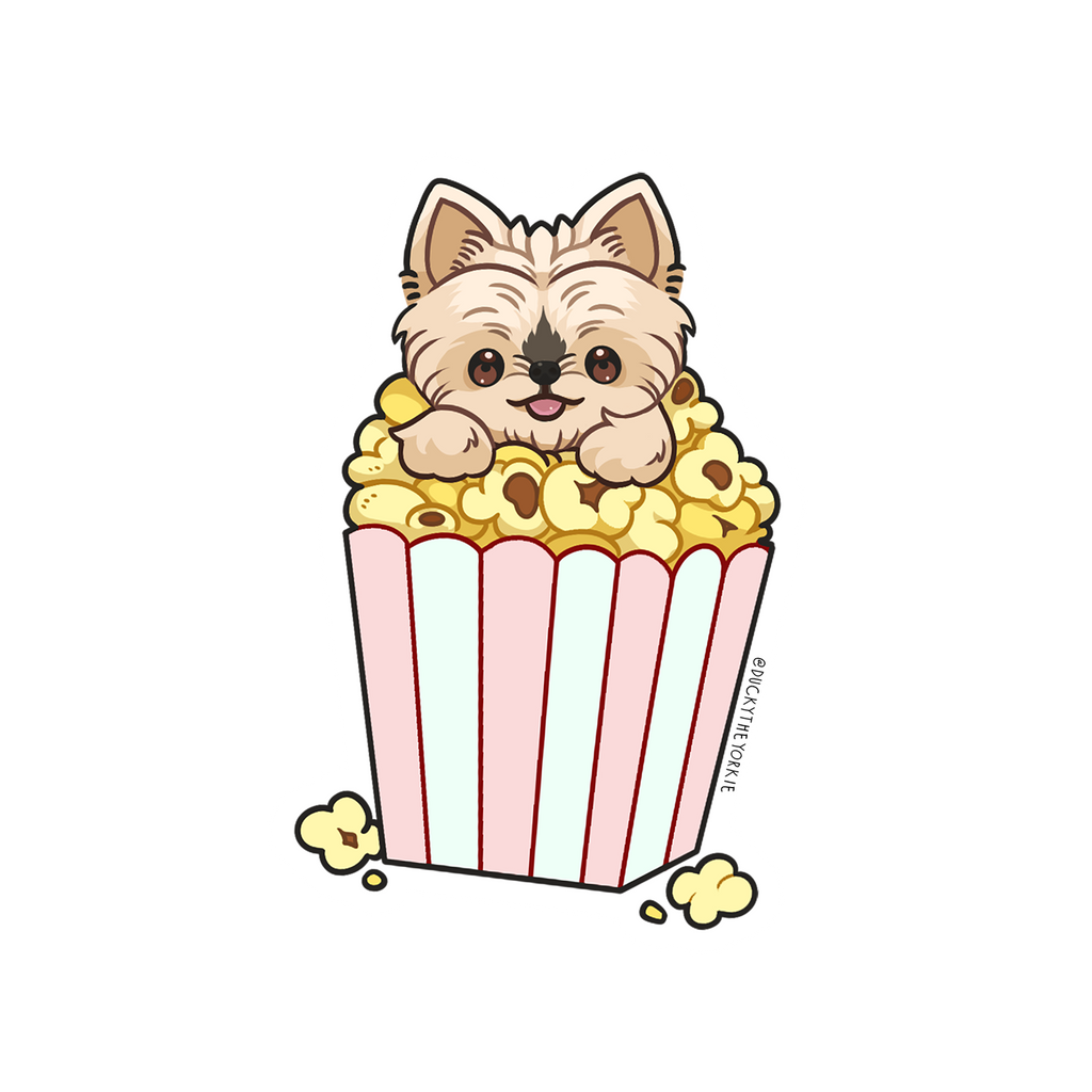 Popcorn Box Sticker