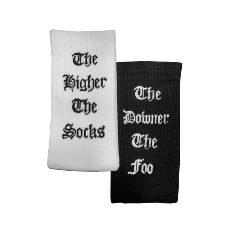 """The Higher the Socks, the Downer the Foo"" Tube Socks Bundle"