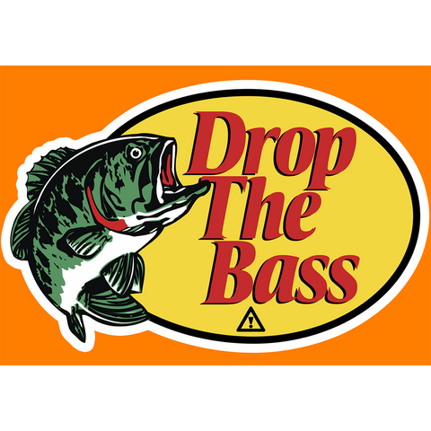 DROP THE BASS VINYL STICKER