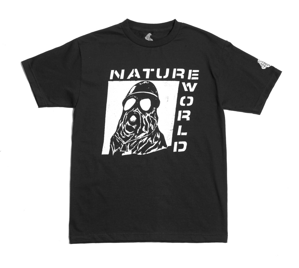 Black Gas Mask Tee