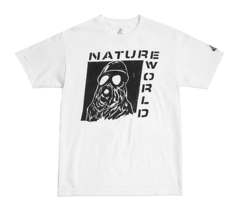 White Gas Mask Tee