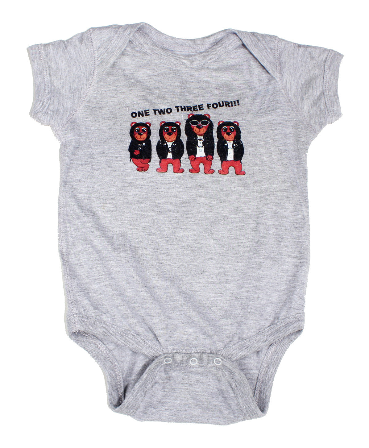 HEATHER GREY RAMONES BABY ONESIE