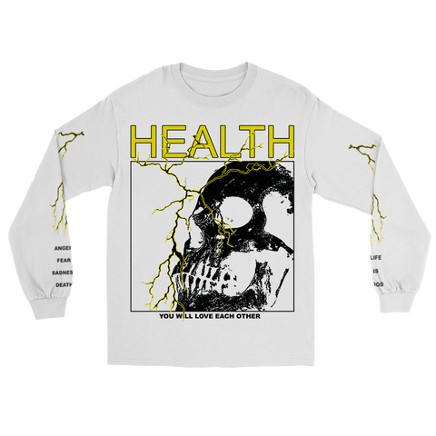 HEALTH x ALIEN BODY LIGHTNING LONG SLEEVE (WHITE)