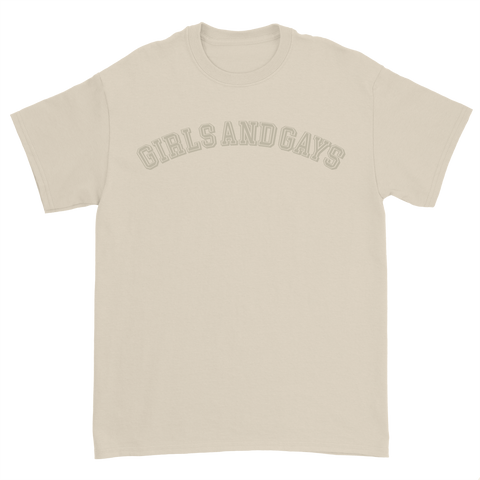 GIRLS & GAYS T-SHIRT - KHAKI