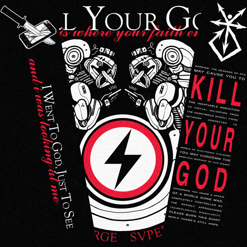 KILL YOUR GOD x GRIMJOB: ANTICHARGE SUPERSTAR L/S SHIRT