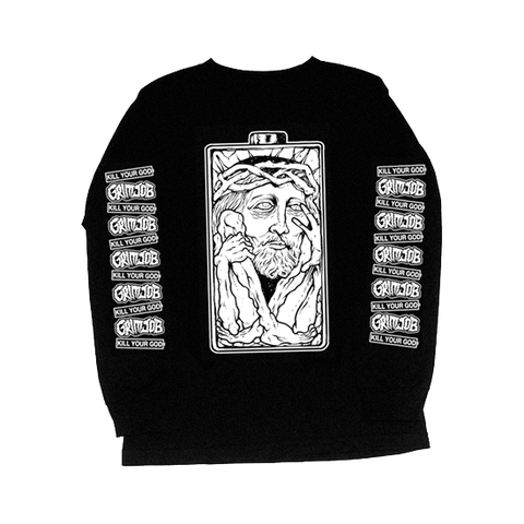 KILL YOUR GOD x GRIMJOB: LOSING MY RELIGION L/S SHIRT