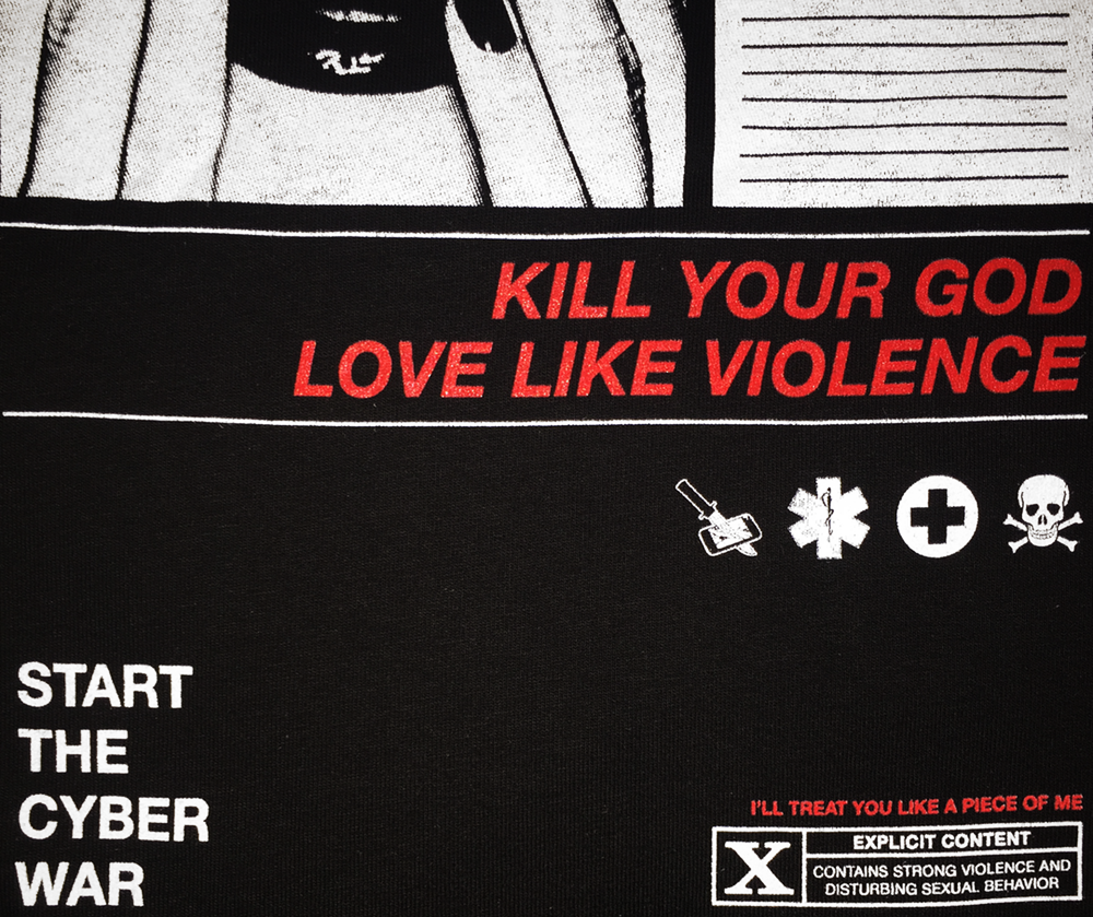 KILL YOUR GOD x HUMAN TRAFFIC: CYBER WAR T-SHIRT