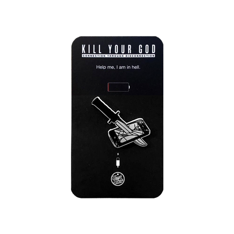 KILL YOUR GOD x TOUGH TIMES PRESS: KYG LOGO ENAMEL PIN