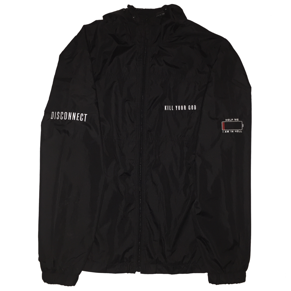 KILL YOUR GOD HOODED WINDBREAKER