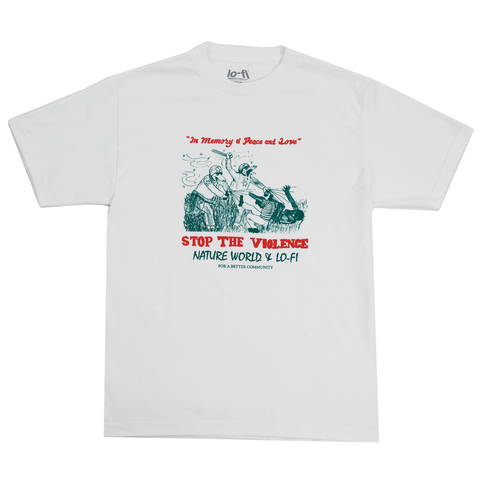 Stop The Violence Tee - White