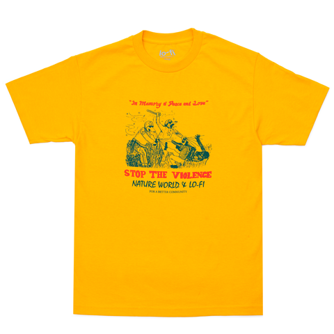 Stop The Violence Tee - Yellow