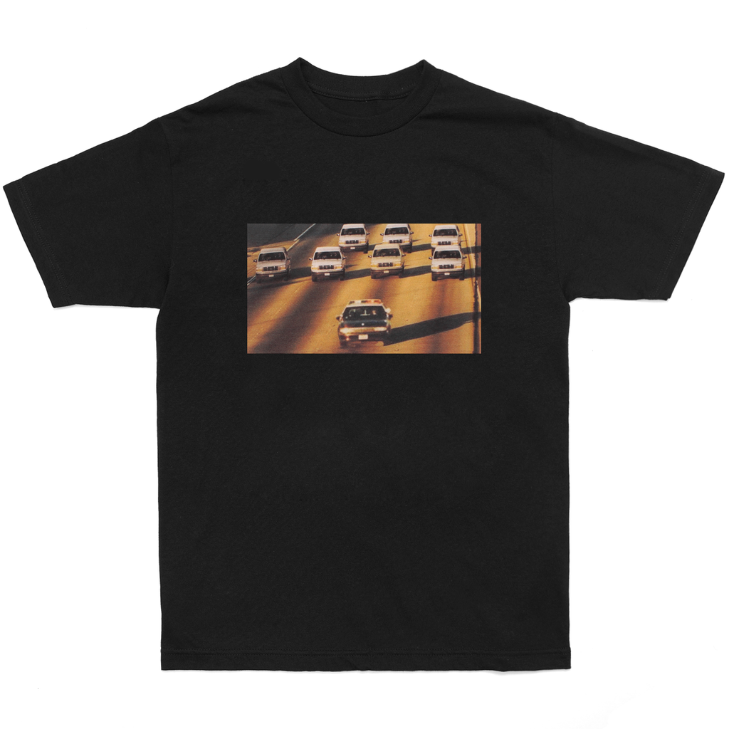 Black 'Cop Chase' T-Shirt