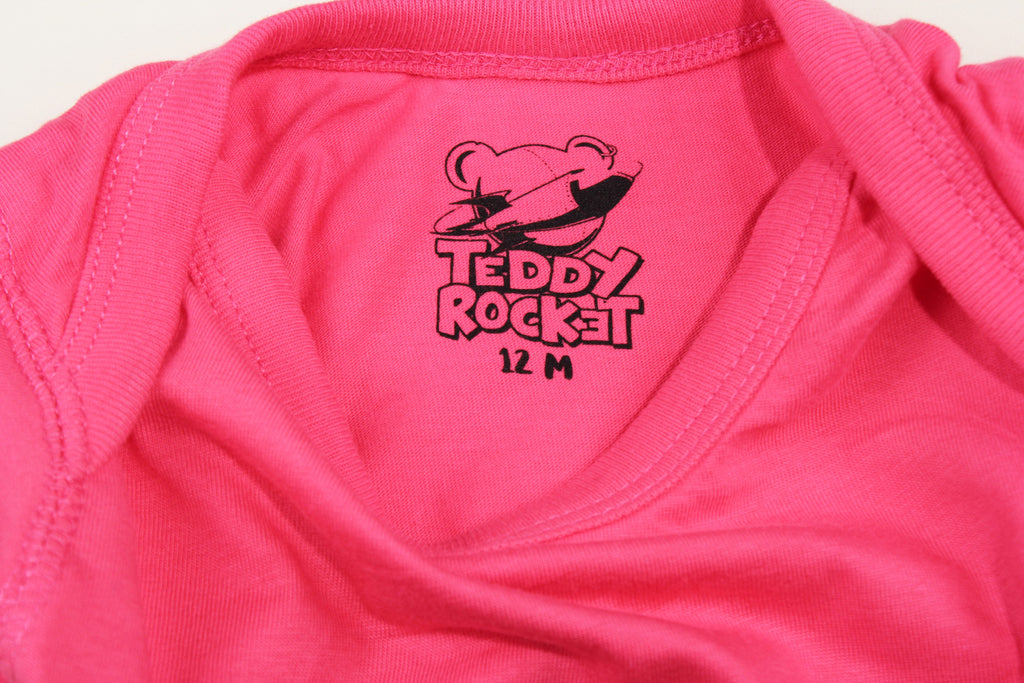 HOT PINK TEDDY ROCKET RAMONES ONSIE