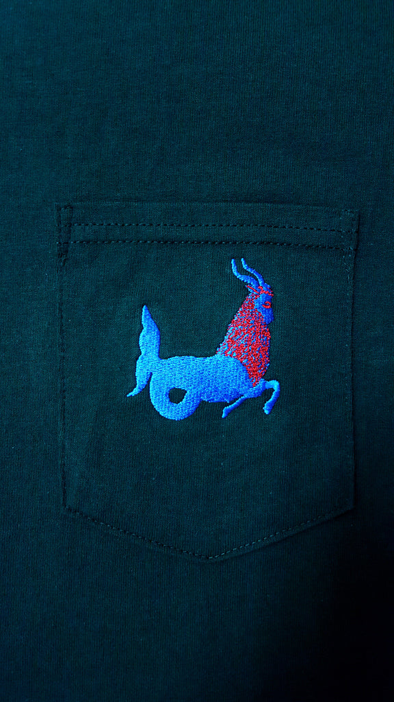 Matt Kivel 'Janus' Embroidered Capricorn Pocket Tee