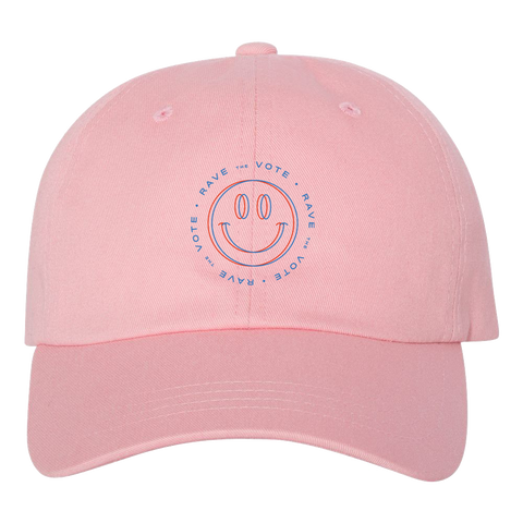 Rave the Vote Logo Pink Hat