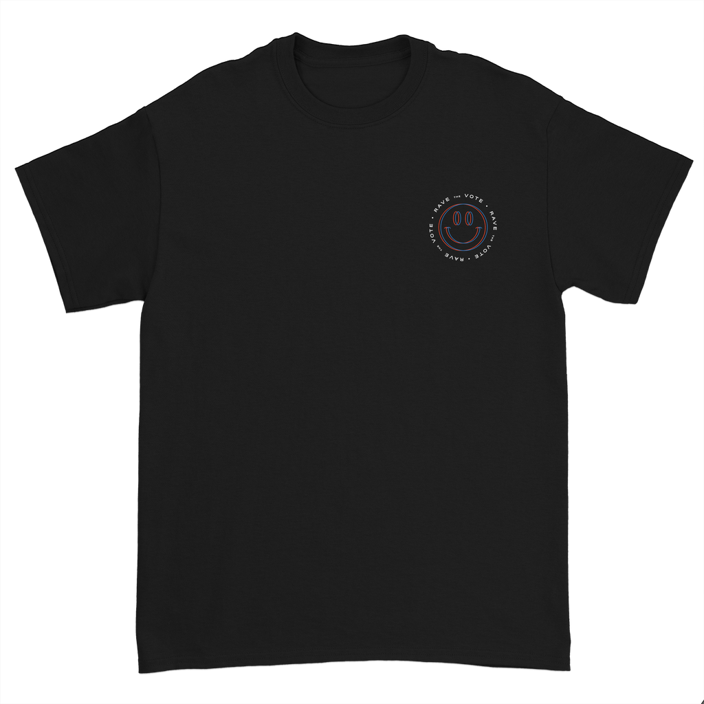 Rave the Vote Logo Tee - Black