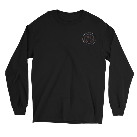 Rave the Vote Logo Long Sleeve - Black