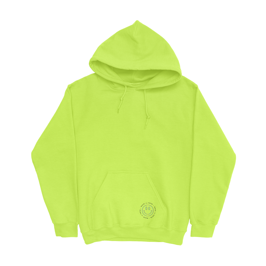 Rave the Vote Logo Hoodie - Safety Yellow