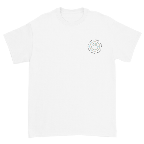 Rave the Vote Logo Tee - White