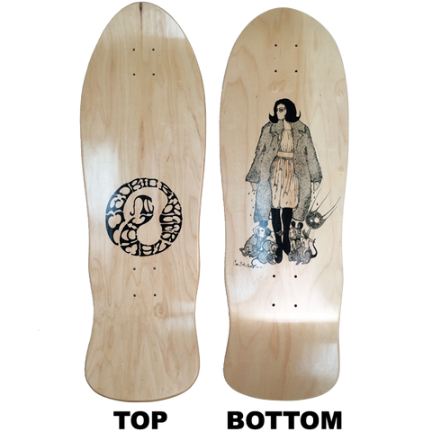 "CUSTOM SHAPED ""SABLE"" SKATE DECK"