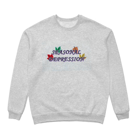 SEASONAL DEPRESSION CREWNECK - GREY
