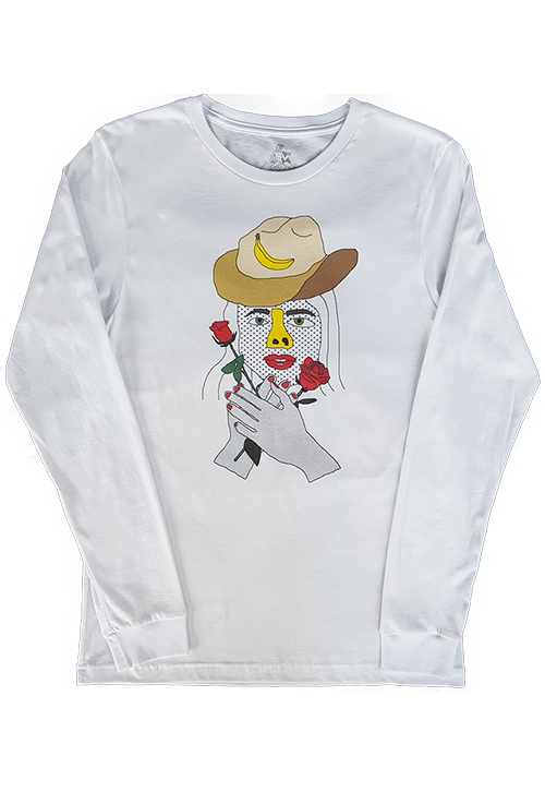 Sarah with Roses Long Sleeve Shirt