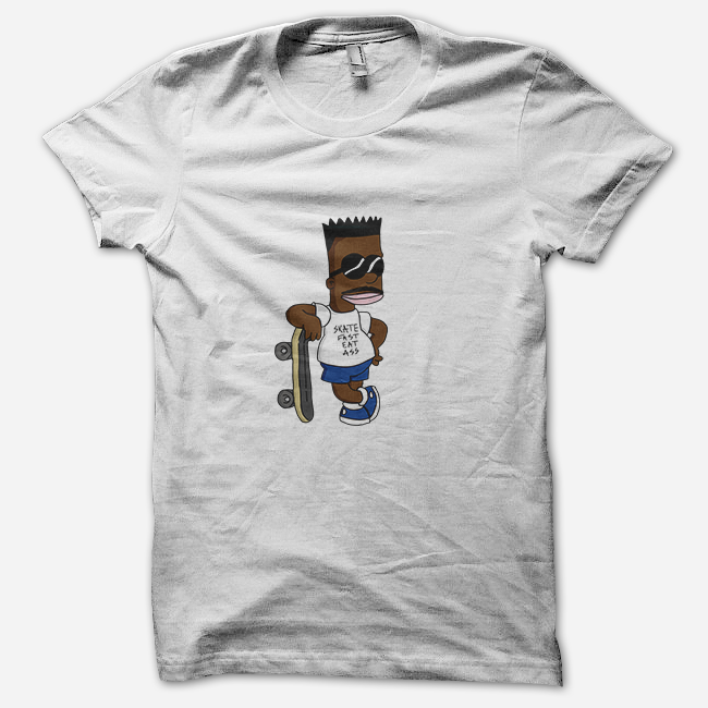 BART SKATE FAST EAT ASS T-Shirt