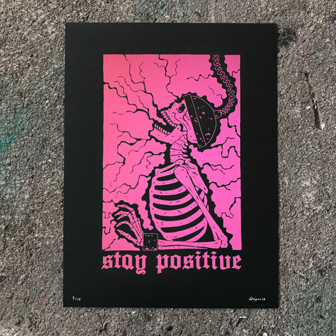 Stay Positive 9x12 Special Edition Pink Print